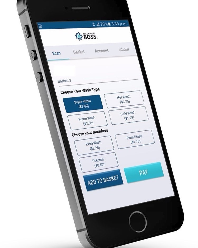 Suncoast Laundromat Payment App by the Laundry Boss