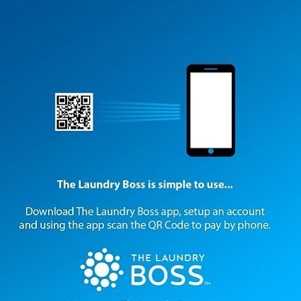 Scan the QR Code on your Phone at Suncoast Laundromats and Pay